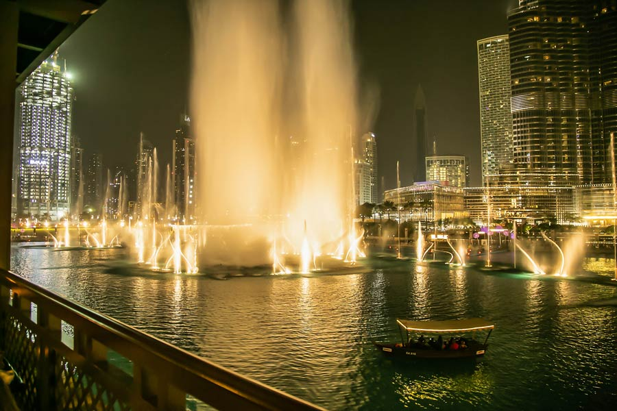 Fountainshow i Dubai