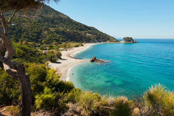 Strand på Samos, Hellas