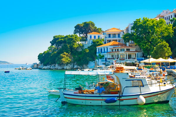 Båt på Skiathos, Hellas
