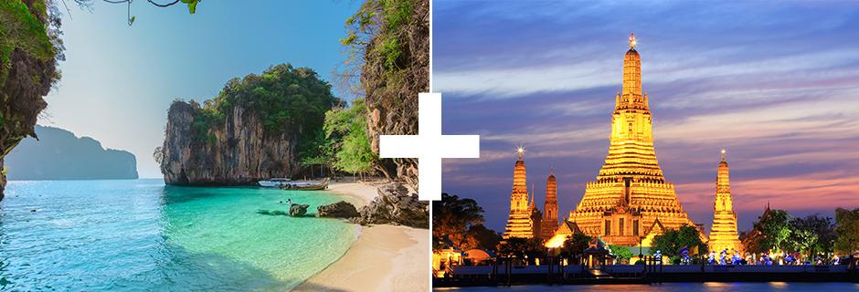 kombinationsrejser til Thailand