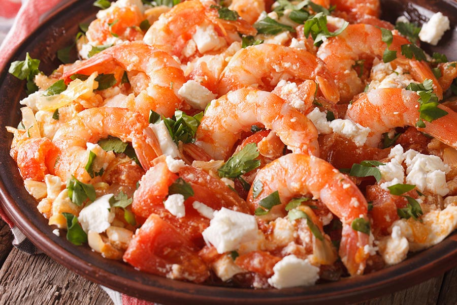 Recept på Shrimp Saganaki