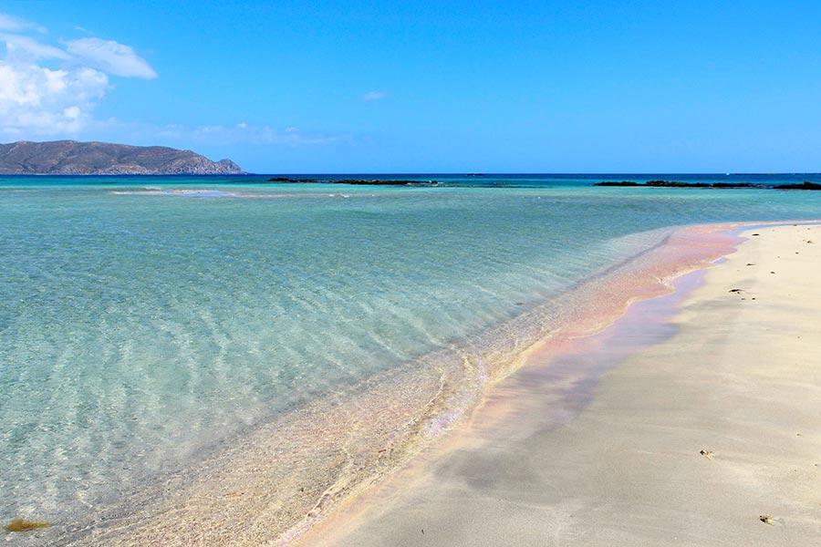 Elafonissi-stranden på Kreta i Grekland