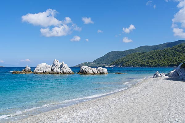 Milia Beach på Skopelos