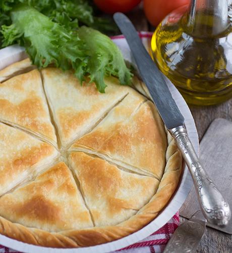 Tiropita - Skopelos egen ostetærte