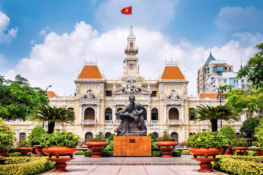 Ho Chi Minh City Hall i Saigon
